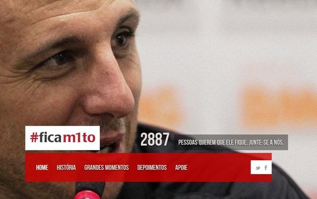 Site de torcedores para Rogério Ceni (Foto: Reprodução)