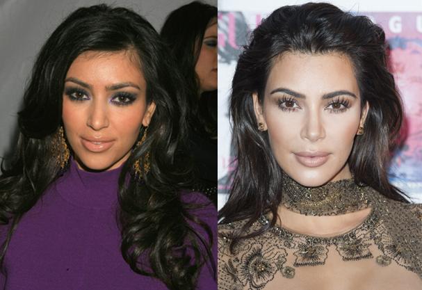 Antes (2006) e depois (2016) de Kim Kardashian (Foto: Katy Winn e Jef Spicer /Getty Images)