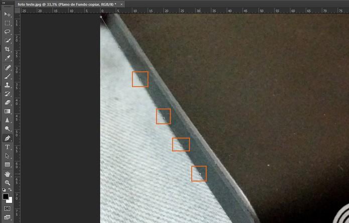Faça as marcações dos pontos com cuidado ao entorno do objeto ou para remover o fundo (Foto: Reprodução/Barbara Mannara)