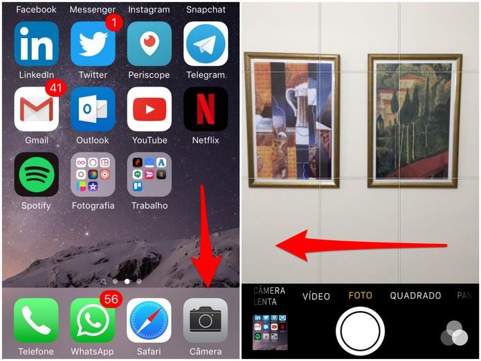 Abra a câmera do iPhone 5S (Foto: Reprodução/Lucas Mendes)