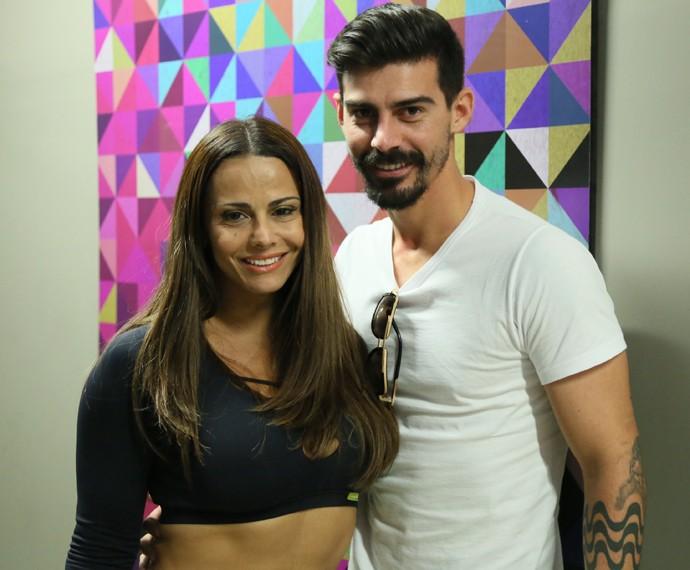 Vviane Araújo diz que é muito bom ter o marido torcendo por ela (Foto: Isabella Pinheiro / Gshow)