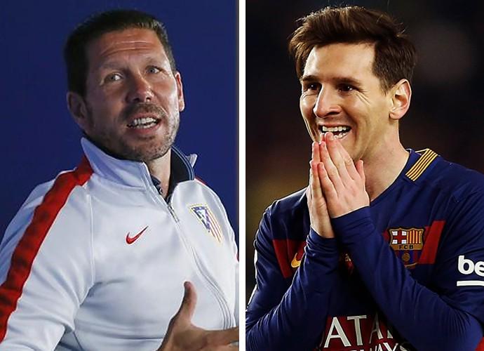 Montagem-Diego-Simeone-e-Messi (Foto: infoesporte)