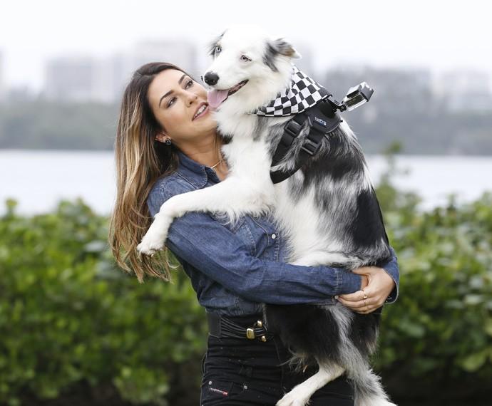 Fernanda Paes Leme é só amor com seu melhor amigo (Foto: Ellen Soares/Gshow)