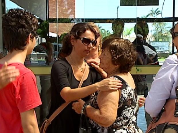 Velório de uma das vítimas do acidente foi em Rio Preto (Foto: Reprodução / TV Tem)
