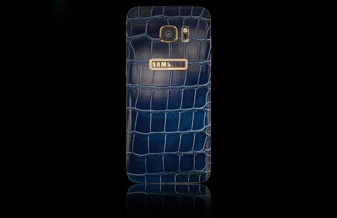 Galaxy S7 revestido com couro de crocodilo custa mais de R$ 9.600 (Foto: Divulgação/Legend)