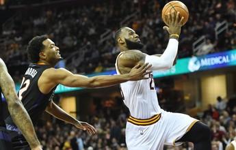 Com LeBron perto do triplo-duplo, Cavs dominam Suns e voltam a vencer