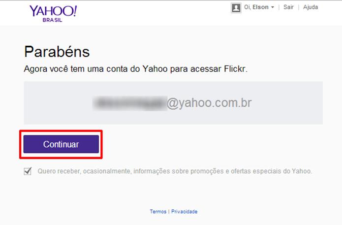 Flickr informará quando conta do Google ou Facebook for substituída com sucesso pelo Yahoo (Foto: Reprodução/Elson de Souza)