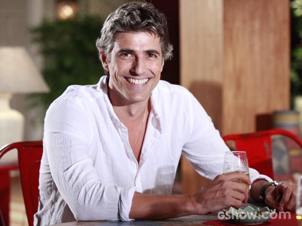 Gianecchini será o bon vivant Cadú, que adora gastronomia (Foto: Carol Caminha/TV Globo)