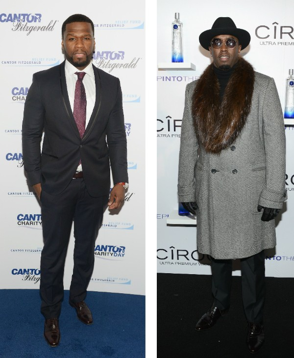 Os rappers 50 Cent e P Diddy (Foto: Getty Images)