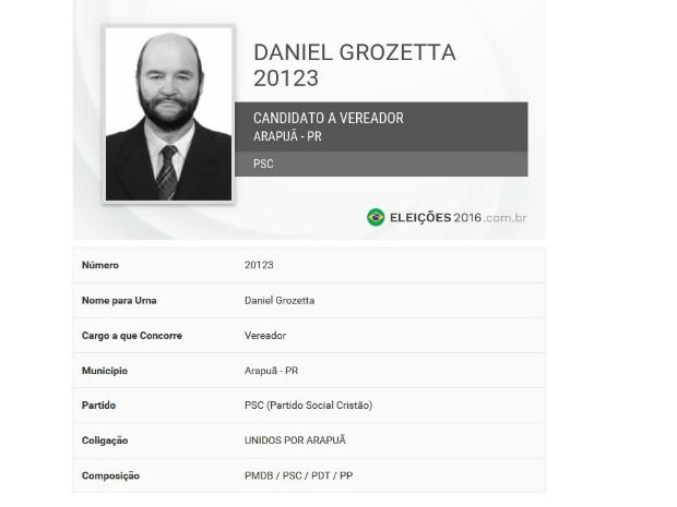 Daniel Grozetta tinha 65 anos (Foto: Reprodução)