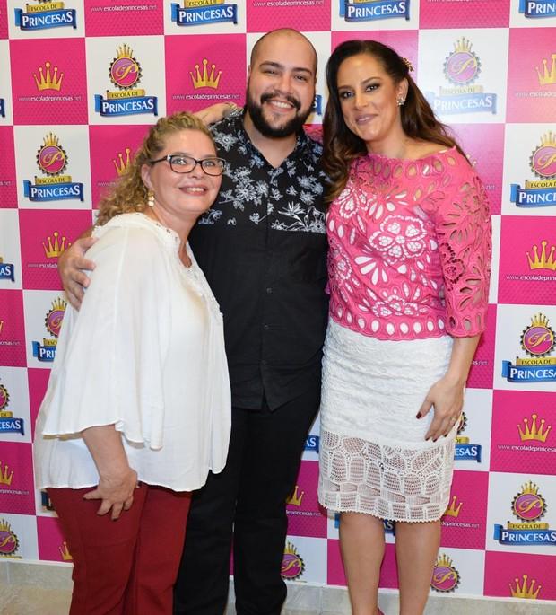 Cintia Abravanel, Tiago Abravanel e Silvia Aabravanel (Foto: Francisco Cepeda / AgNews)