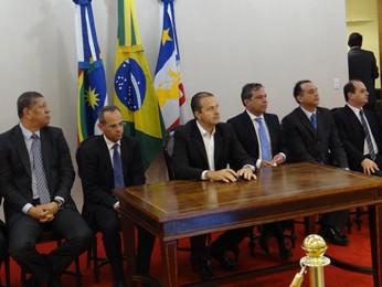 Governador anunciou redução de secretarias e novo plano previdenciário. (Foto: Katherine Coutinho / G1)