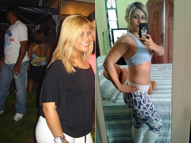 Com os resultados dos exames, ela decidiu mudar os hábitos e conseguiu perder 20 kg; fotos mostram antes e depois (Foto: Arquivo pessoal/Cristiane Dias da Silveira)
