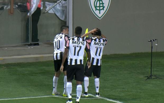 Luan comemora gol contra o Democrata (Foto: Reprodução / Premiere)