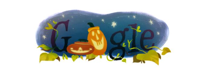 Este ano, o Google também preparou um doodle do Dia das Bruxas para o Brasil (Foto: Reprodução/Google)