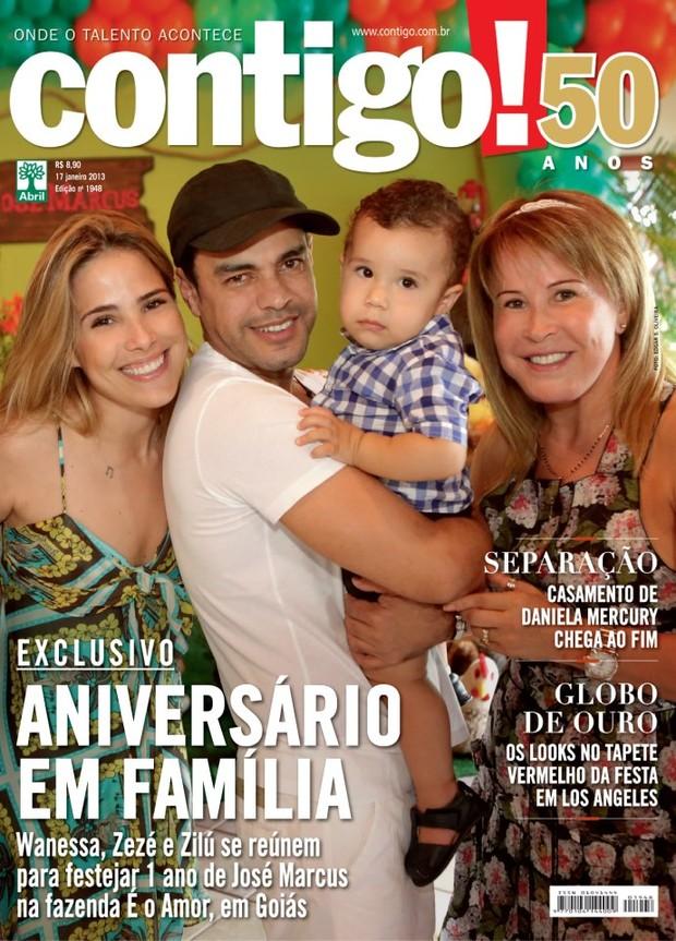 Wanessa, Zilu e Zeze di Camargo na capa da Contigo! (Foto: Revista Contigo!/Reprodução)