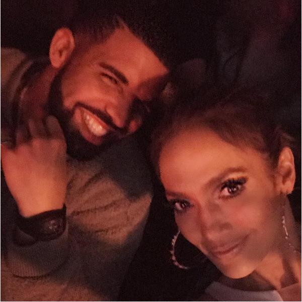 Os músicos Drake e Jannifer Lopez (Foto: Instagram)