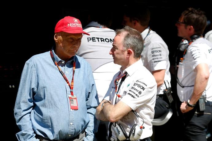 Niki Lauda, atualmente na Mercedes, foi bicampeão na Ferrari, em 1975 e 1976 (Foto: Getty Images)