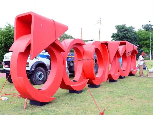 Sorocaba ganha escultura Bicicleta na Avenida Dom Aguirre (Foto: Emerson Ferraz/ Prefeitura de Sorocaba)