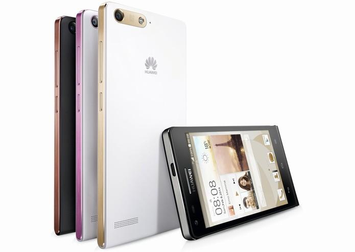 Ascend P7 é um smartphone da Huawei com Android e foco nos selfies (Foto: Divulgação/Huawei)