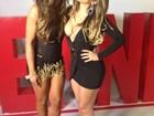 Com decotão, Anamara grava clipe ao lado de Nicole Bahls no Rio