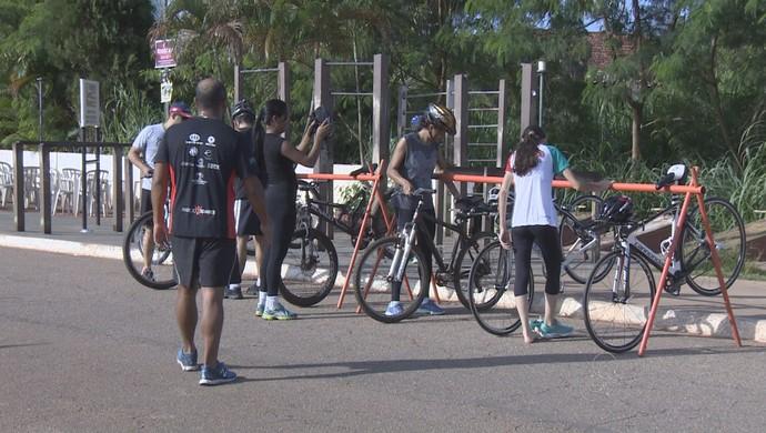 Clínica de Triathlon com treinador Márcio Soares (Foto: Reprodução/ TV Rondônia)