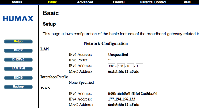 Ache as configurações de DHCP do seu roteador (Foto: Reprodução/Paulo Alves)