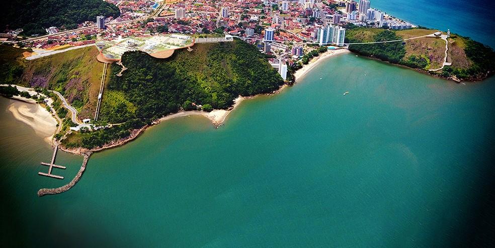 Projeto de complexo turístico em Caraguá contempla mirante, bondinho e teleférico (Foto: Divulgação/ Prefeitura de Caraguatatuba)