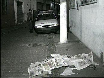 Chacina do Beco do Candeeiro ocorreu em 10 de julho de 1998, no Centro de Cuiabá. (Foto: Reprodução/ TVCA)