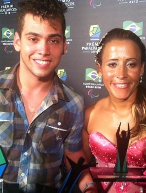 Alan Fonteles Terezinha Guilhermina Prêmio Paralímpicos 2012 (Foto: Ana Hissa/SporTV)