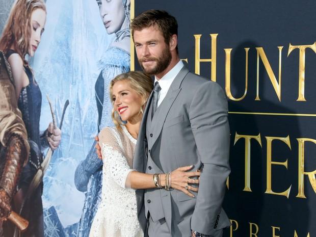 Chris Hemsworth e Elsa Pataky em première em Los Angeles, nos Estados Unidos (Foto: Frederick M. Brown/ Getty Images/ AFP)
