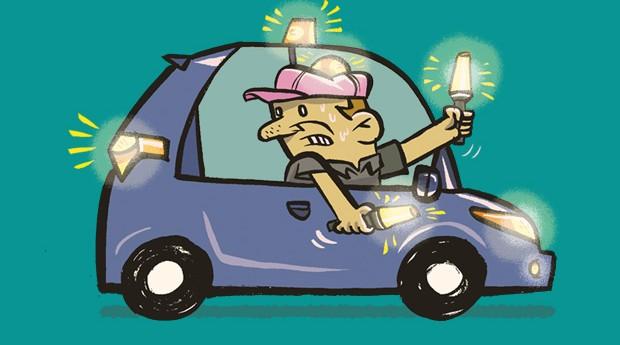 Manias no carro - Usar o pisca alerta em situações não emergenciais (Foto: André Valente/Autoesporte)