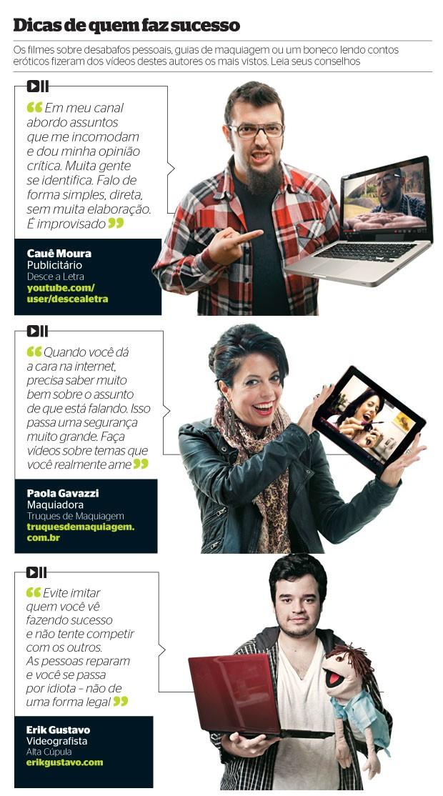 dicas de quem faz sucesso (Foto: Marcelo Spatafora/ÉPOCA, Rogério Cassimiro/ÉPOCA, Stefano Martini/ÉPOCA e Shutterstock)