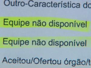 Prontuário diz que transplante não foi realizado por falta de profissionais no HC de Ribeirão Preto, SP (Foto: Reprodução/ EPTV)
