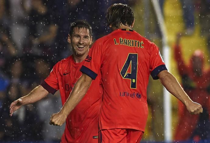 Messi Rakitic Barcelona (Foto: Getty Images)
