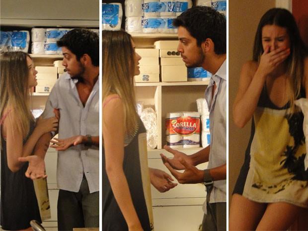 Fatinha pede para Bruno a assumir, mas universitário vai embora e deixa garota aos prantos (Foto: Malhação / Tv Globo)