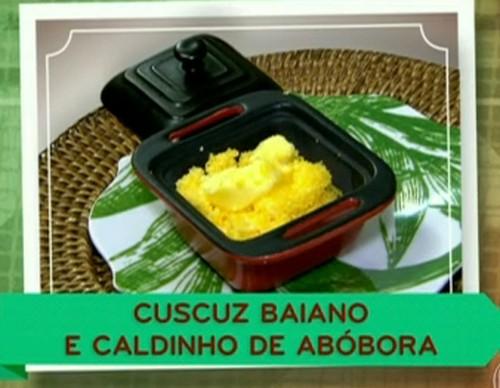 Cuscuz Baiano com Caldinho de Abóbora