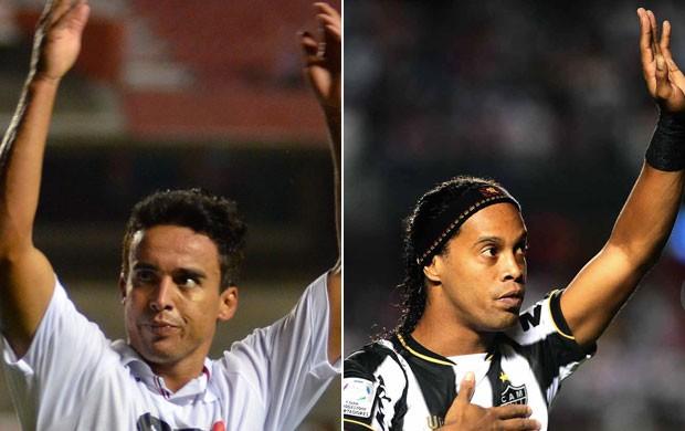 Montagem Jadson Ronaldinho São Paulo x Atlético-MG (Foto: Editoria de Arte)