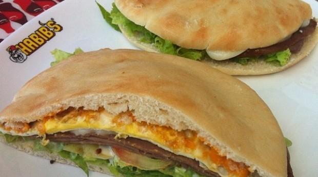 Beirute do Habib's. Alimentos da rede de fast-food (Foto: Divulgação)