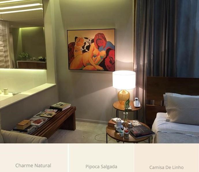 Cores claras harmonizam com a decoração colorida do quarto de Eugênio e Joyce (Foto: TV Globo)
