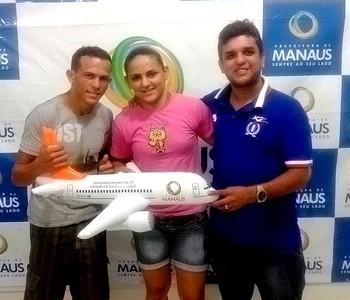 judocas do amazonas Ismael e Ítala (Foto: Divulgação/Semjel)