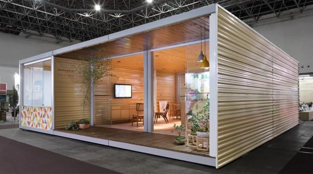 Projeto de casa da Hometeka. Empresa quer vender modelos pré-fabricados (Foto: Divulgação)