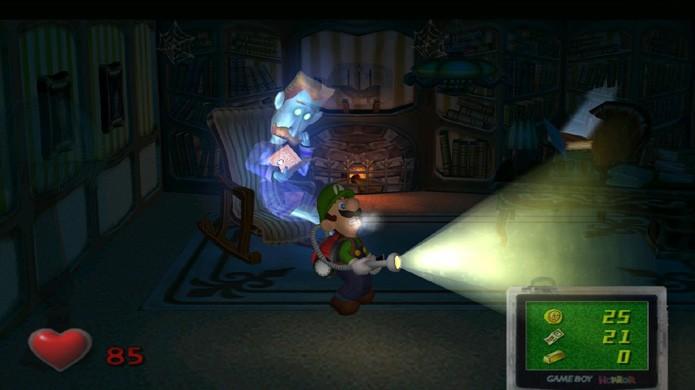 Luigis Mansion apresentava uma série de efeitos gráficos que eram novidade no GameCube (Foto: Reprodução/Red Ring of Redemption)