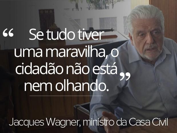 jacques wagner, ministro, casa civil, frase, economia, protestos (Foto: Filipe Matoso/G1)