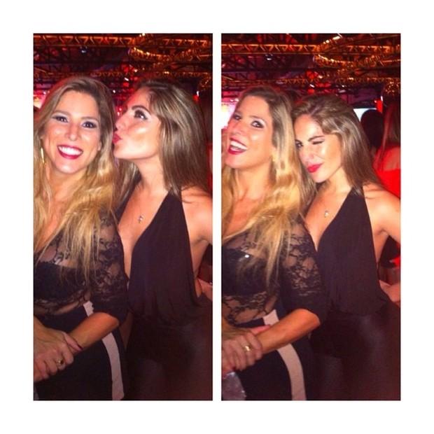 Es-BBBs Milena e Anamara em boate em São Paulo (Foto: Instagram/ Reprodução)