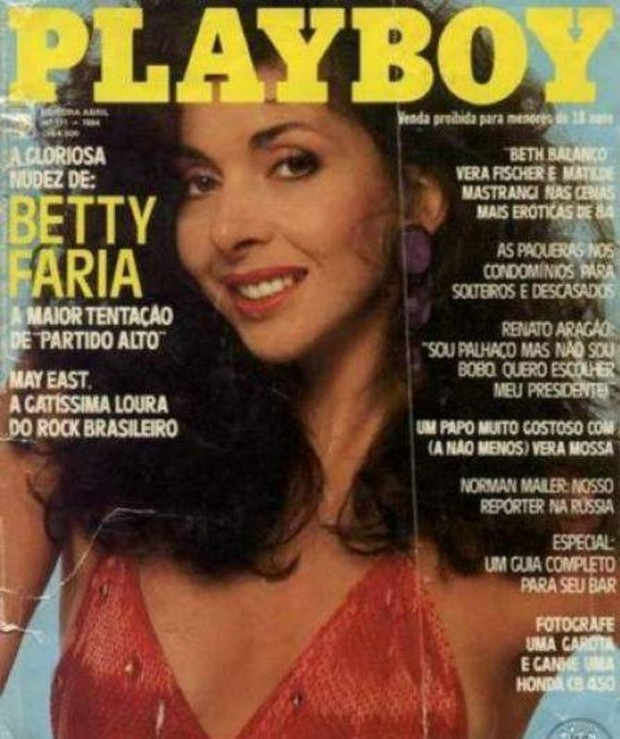 Capa da Playboy com Betty Faria de outubro de 1984 (Foto: Reprodução)