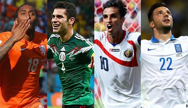 As seleções que se enfrentam no domingo, dia 29, pelas oitavas de final (Foto: Divulgação FIFA / Getty Images)