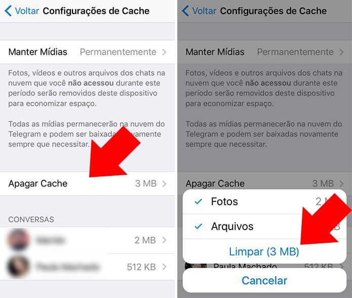 Limpe o cache do iPhone (Foto: Reprodução/Paulo Alves)