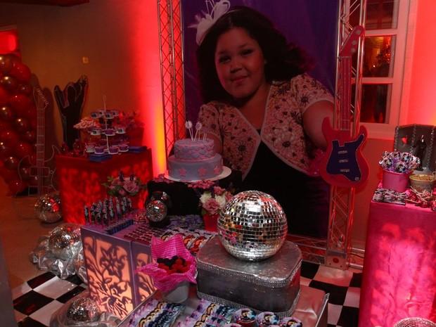Detalhe da festa de Aysha, filha de Simony (Foto: Léo Franco/ Ag. News)