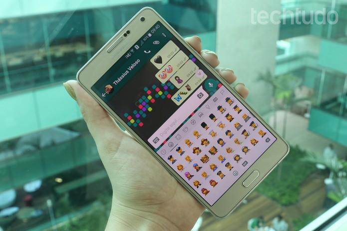 [marca] WhatsApp Emojis Android (Foto: Aline Batista/TechTudo)